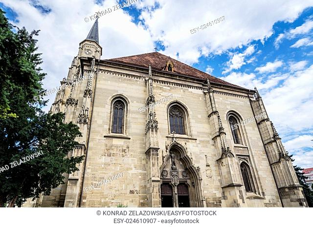 St. Michael's Church in Cluj-Napoca city in Romania