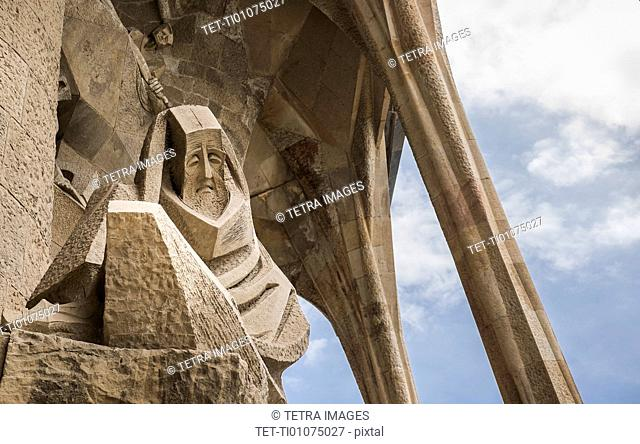 Detail of Sagrada Familia Church by Antonio Gaudi