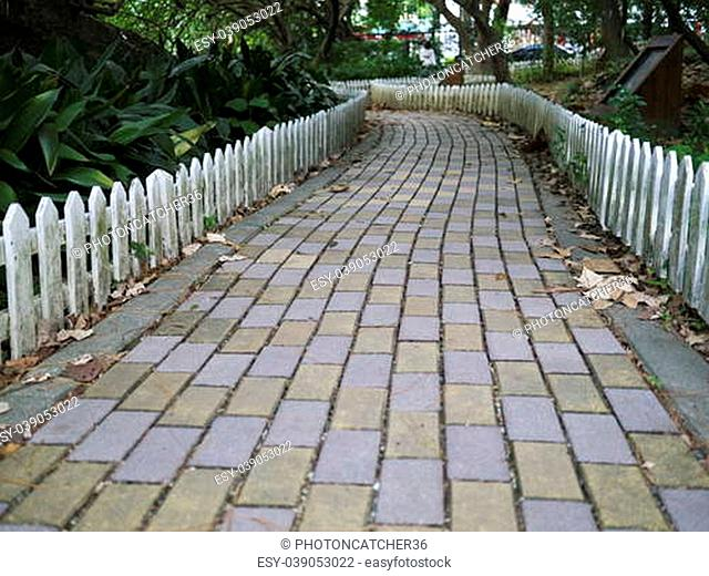 The Walk tile path in the park