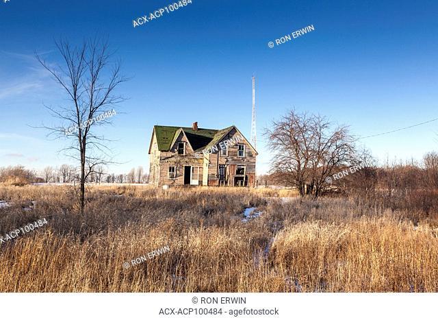 Abandoned house on Wolfe Island, Ontario, Canada