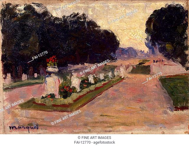 Luxembourg Gardens. Marquet, Pierre-Albert (1875-1947). Oil on canvas. Fauvism. 1901. State Hermitage, St. Petersburg. 25,5x35,5. Painting