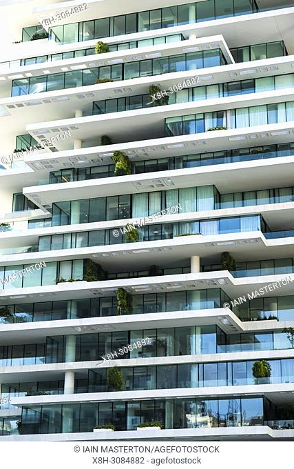 Modern high rise luxury apartment buildings , The Terraces, in central Beirut , Lebanon