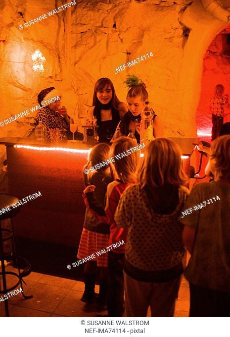 Children at a disco, Sweden
