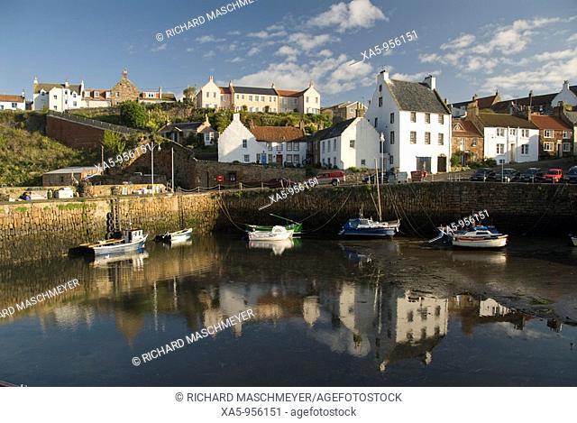 Crail harbor, Fife, Scotland, UK
