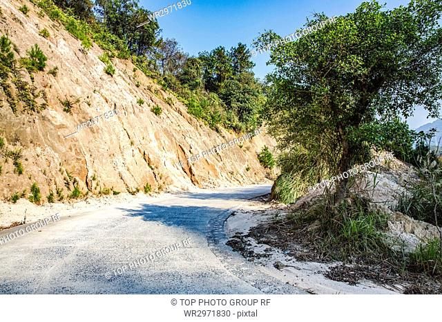 Cement Road and Sunniness