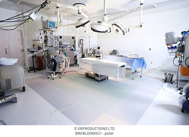 Operating room prepared for surgery