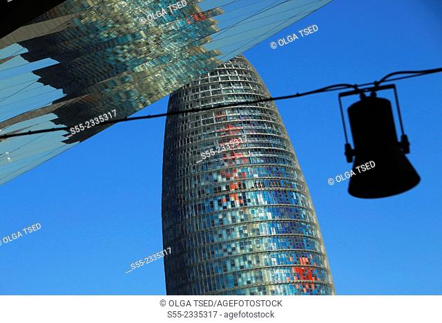 Torre Agbar, by Jean Nouvel. Barcelona, Catalonia, Spain