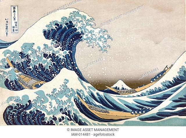 The Great Wave off the coast at Kanagawa, c1830. From 'Thirty-six Views of Mount Fuji', c1831. Katsushika Hokusai 1760-1849 Japanese Ukiyo-e artist