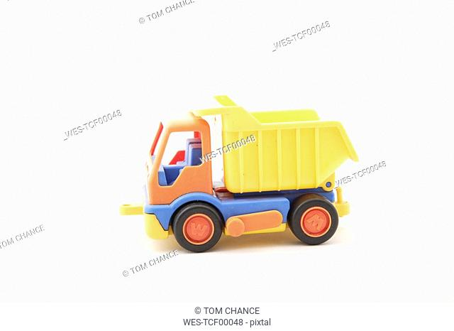 Toy truck, close-up