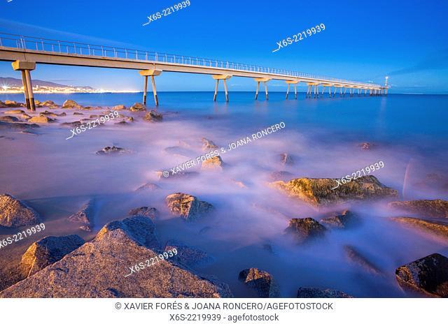 Pont del Petroli in Badalona city near Barcelona, Catalunya, Spain