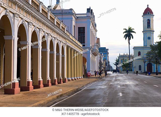 Parque Jose Marti, Colonnades, Cienfuegos, Cuba, Unesco World Heritage Site