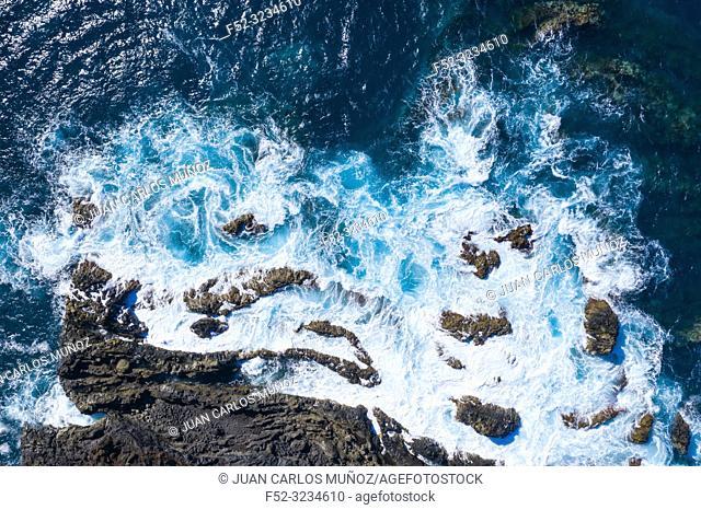 Acantilados Marinos, Los Hevideros, Yaiza, Lanzarote Island, Canary Islands, Spain, Europe