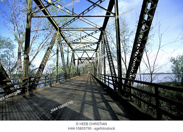 Chain of Rocks Bridge, Missouri, Near St.Louis, Route 66, USA, America, United States, river