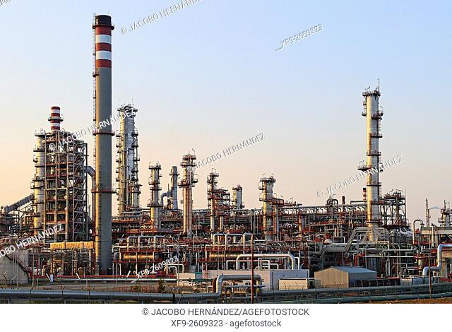 Oil refinery.Huelva.Andalusia.Spain