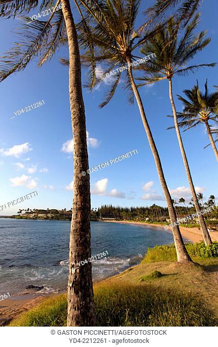 Beach in Napili Kahana, Maui Island, Hawaii, USA