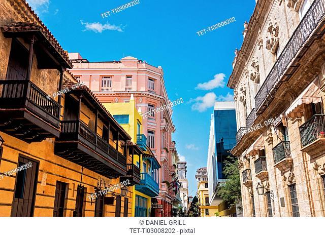 Cuba, Havana, Town houses