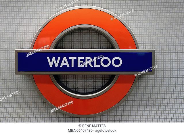 United Kingdom, London, Underground, Waterloo station