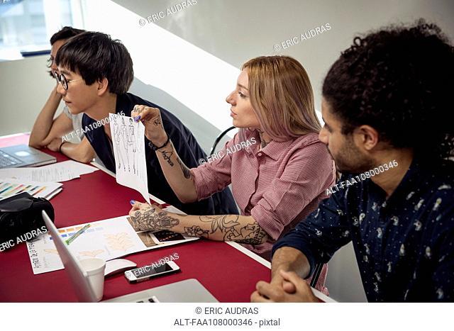 Designers having casual meeting