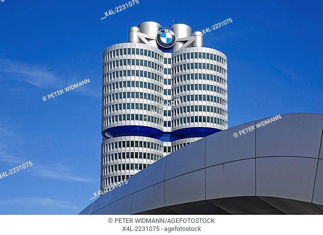 BMW Headquarters, Munich, Bavaria, Germany, Europe