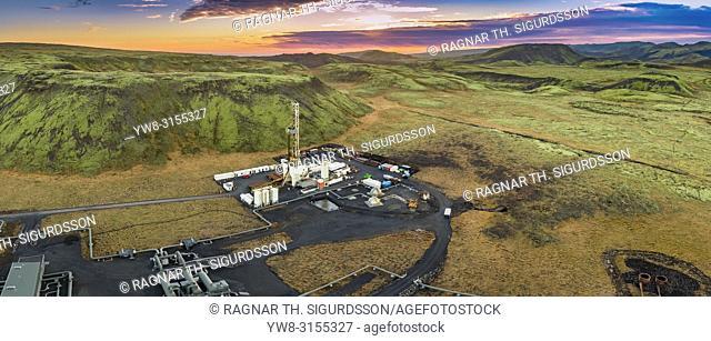 Drilling Rig, Hverahlidarvirkjun Geothermal Power Plant, Iceland