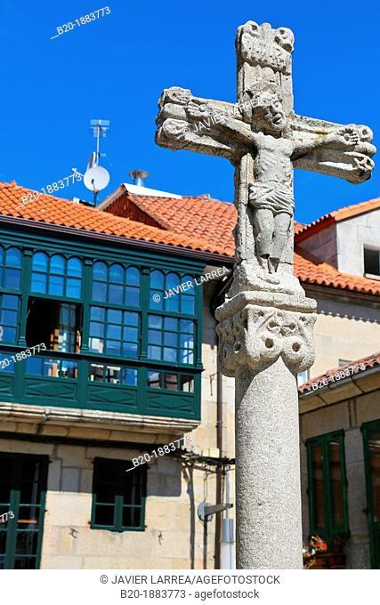 Plaza de la Leña, Pontevedra, Galicia, Spain