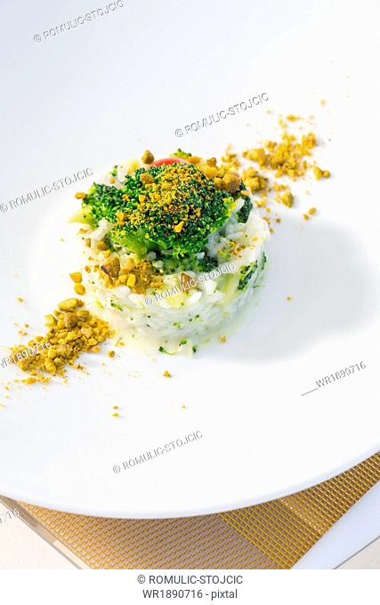 Risotto with Pistachios and Broccoli