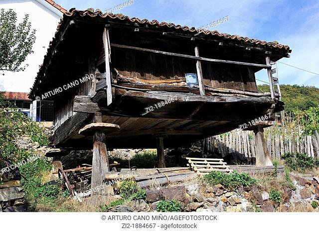 Teverga, Asturias, Spain, raised granary