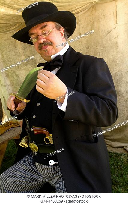 Bounty Hunterwith Big Knife at Reenactment- Paul Fry
