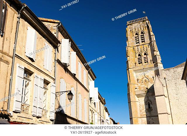 France, Gers (32), town of Lectoure on the way of Saint Jacques de Compostelle, Saint Gervais cathedral