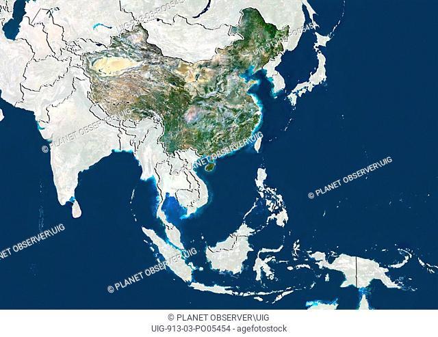 China, Satellite Image