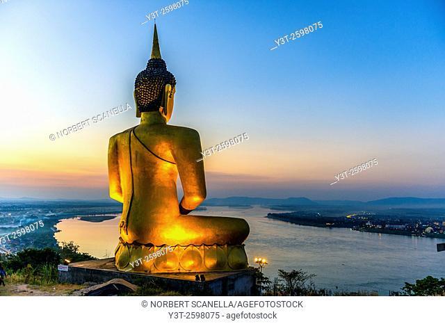 Asia. South-East Asia. Laos. Province of Champassak. Pakse. The big golden Buddha