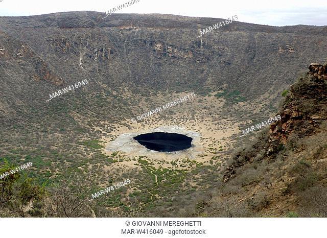 cratere di el sod, etiopia, africa