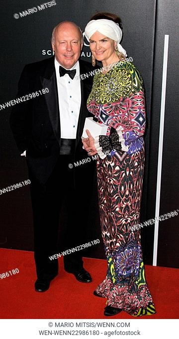 The British Film Institute's LUMINOUS gala dinner held at Guildhall - Arrivals Featuring: Lord Julian Fellowes, Lady Fellowes Where: London