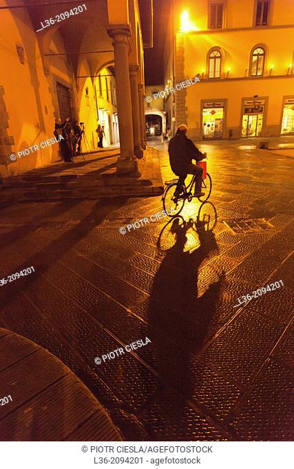 San Giovanni Valdarno in the evening, Tuscany, Italy