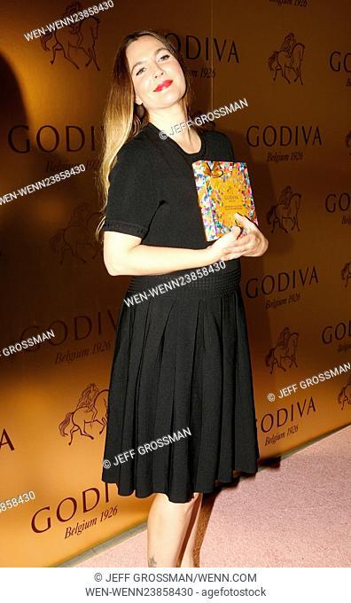 Drew Barrymore attends Godiva's 90th Anniversary at Marlborough Chelsea Featuring: Drew Barrymore Where: New York, New York
