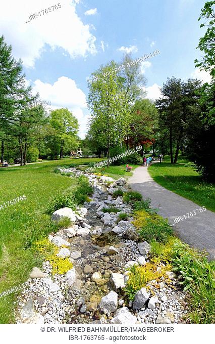 Herbal park, herbal expreience centre, Bad Heilbrunn, Loisachtal, Upper Bavaria, Bavaria, Germany, Europe