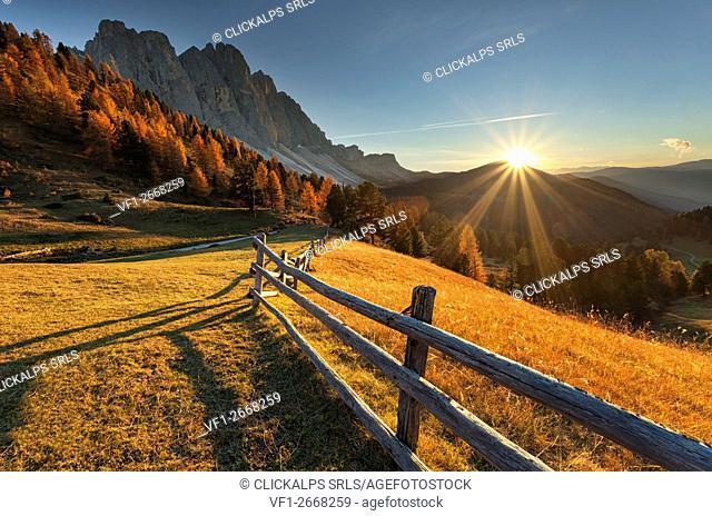 Odle/geisler, Dolomites, South Tyrol, Funes Valley/Villnoss, Bolzano, Italy