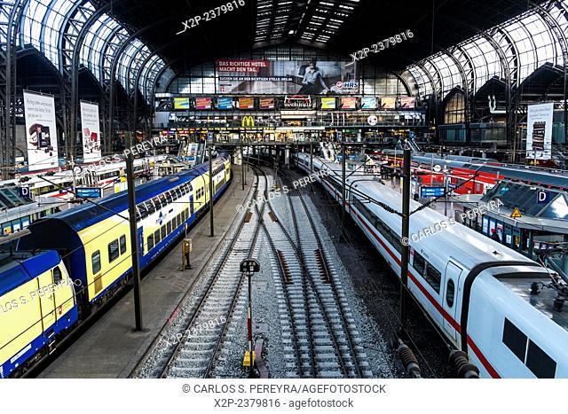 Hamburg Hauptbahnhof central train staion, Germany