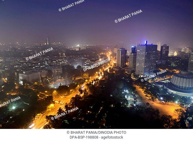 Aerial view vidhan bhavan, mumbai, maharashtra, india, asia