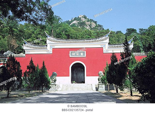 Donggong ancestral hall of Qingzhi Temple, Lianjiang County, Fuzhou City, Fujian Province of People's Republic of China