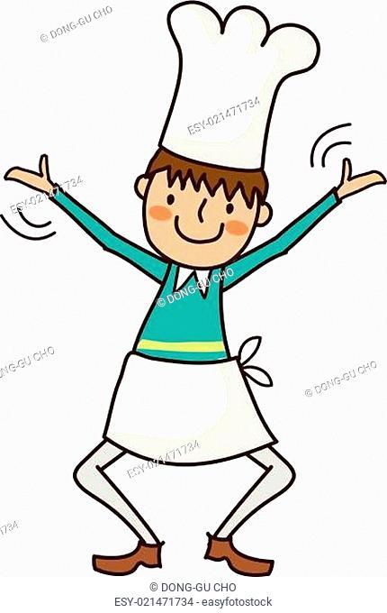 Portrait of Boy in chef uniform