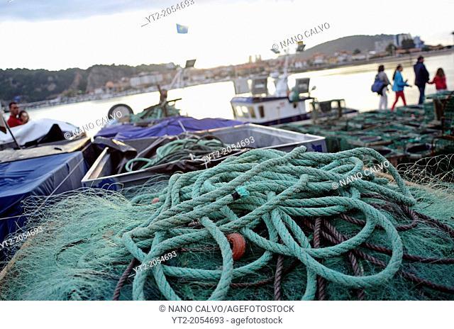 Fishing gear in port of Ribadesella