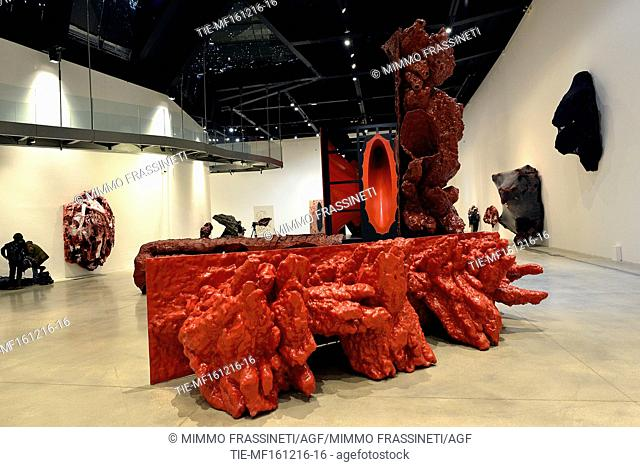 Exhibition by Anish Kapoor, Rome, ITALY-23-12-2016