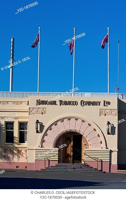 National Tobacco Company Building in Early Morning, Art Deco Style, Napier, north island, New Zealand
