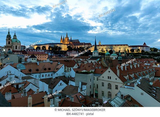View of the Burgviertel, Prague, Czech Republic