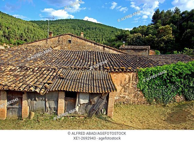 Farm, Aguilar de Segarra, Bages region, Barcelona province, Catalonia, Spain