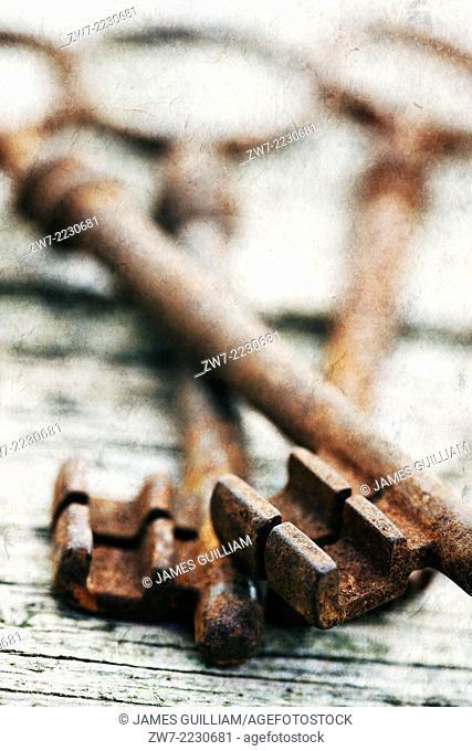 Rusty antique keys