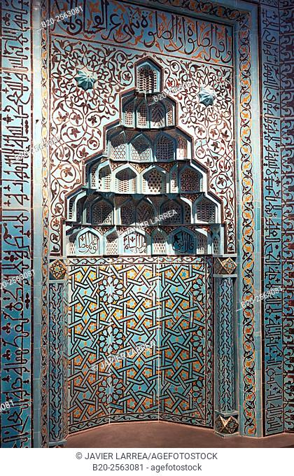 Gebetsnische, Islamic art, Beyhekim mosque, Konya, Turkey, Pergamon Museum, Berlin, Germany