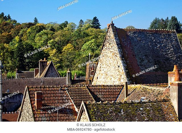 Hérisson, French municipal, roofs