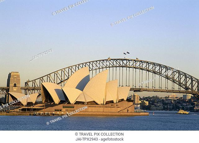 Sydney Opera House & Sydney Harbour Bridge, Sydney, New South Wales, Australia